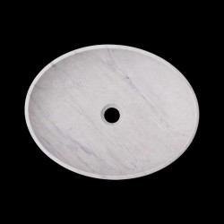 Persian White Honed Oval Basin Marble 2385