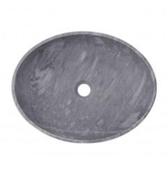 Crystal Grey Honed Oval Basin Marble 2402