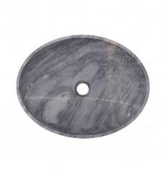 Crystal Grey Honed Oval Basin Marble 2403