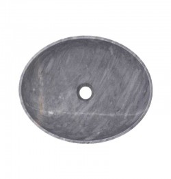 Crystal Grey Honed Oval Basin Marble 2405
