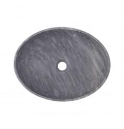 Crystal Grey Honed Oval Basin Marble 2407