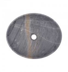 Crystal Grey Honed Oval Basin Marble 2408