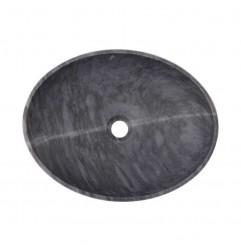 Crystal Grey Honed Oval Basin Marble 2413