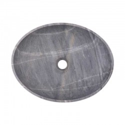 Crystal Grey Honed Oval Basin Marble 2414