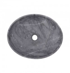 Crystal Grey Honed Oval Basin Marble 2415