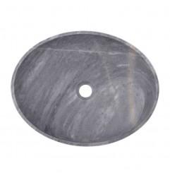 Crystal Grey Honed Oval Basin Marble 2416