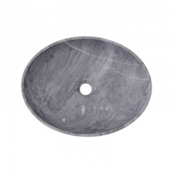 Crystal Grey Honed Oval Basin Marble 2446