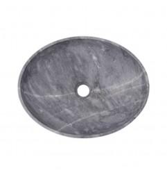 Crystal Grey Honed Oval Basin Marble 2447