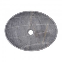 Crystal Grey Honed Oval Basin Marble 2449