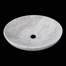 Persian White Honed Oval Basin Marble 2421