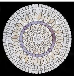 Medallion Tumbled Travertine Mosaic