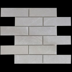 Sparta Honed Subway Sheeted Marble Mosaic