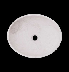 Bianca Perla Honed Oval Basin Limestone 1861