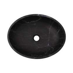 Nero Marquina Honed Oval Basin Marble 2443