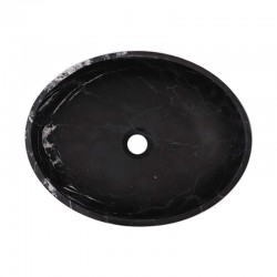 Nero Marquina Honed Oval Basin Marble 2468