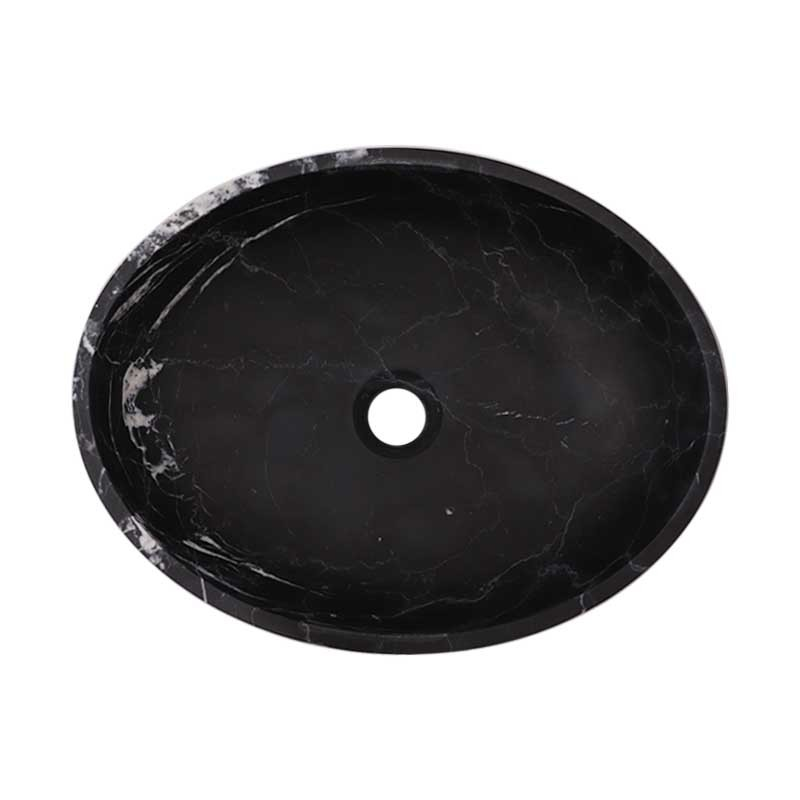 Nero Marquina Honed Oval Basin Marble 2468