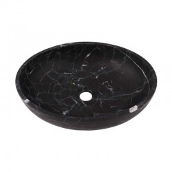 Nero Marquina Honed Oval Basin Marble 2469