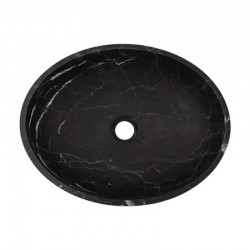 Nero Marquina Honed Oval Basin Marble 2471