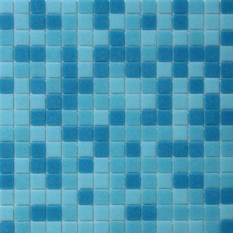 Azure Mix- Italian Glass Mosaics Pool Tiles|On Plus System