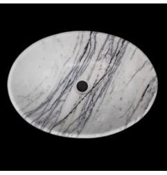 New York Honed Oval Marble Basin 1304