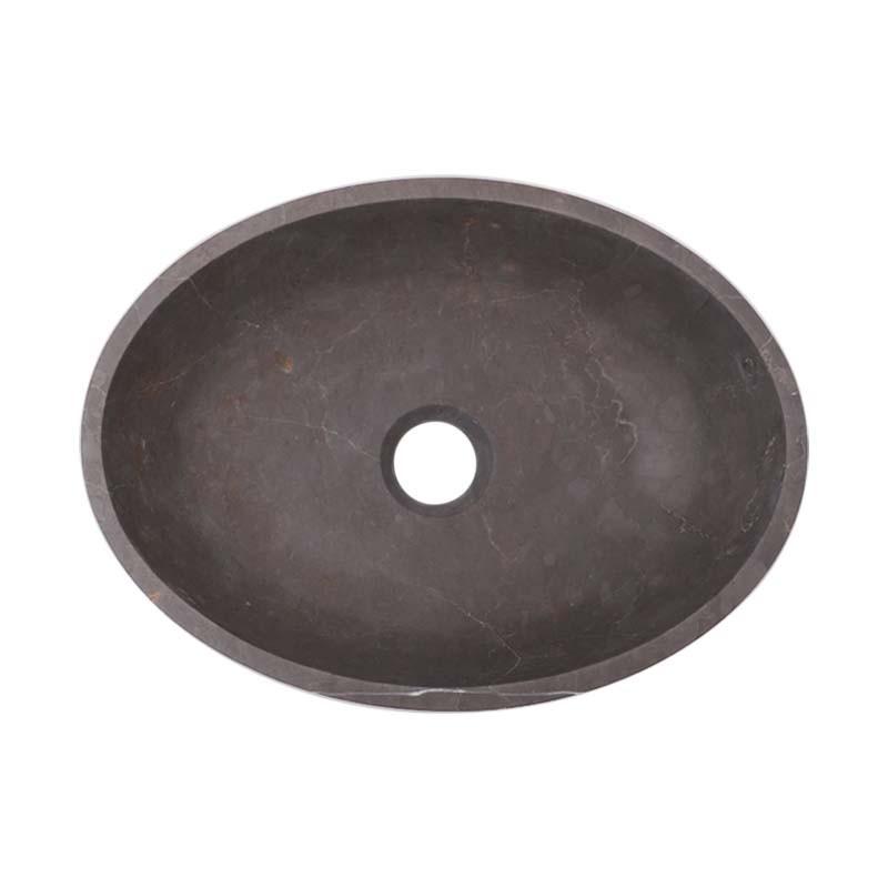 Pietra Grey Honed Oval Basin Limestone 2506