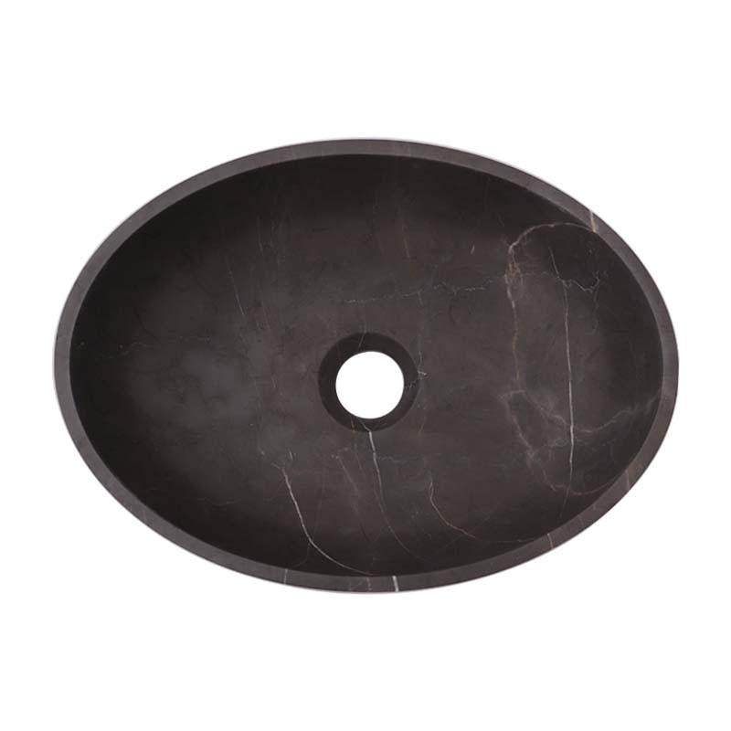 Pietra Grey Honed Oval Basin Limestone 2507