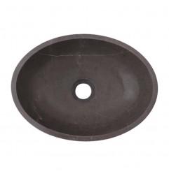 Pietra Grey Honed Oval Basin Limestone 2511