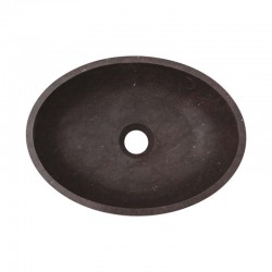Pietra Brown Honed Oval Basin Limestone 2515