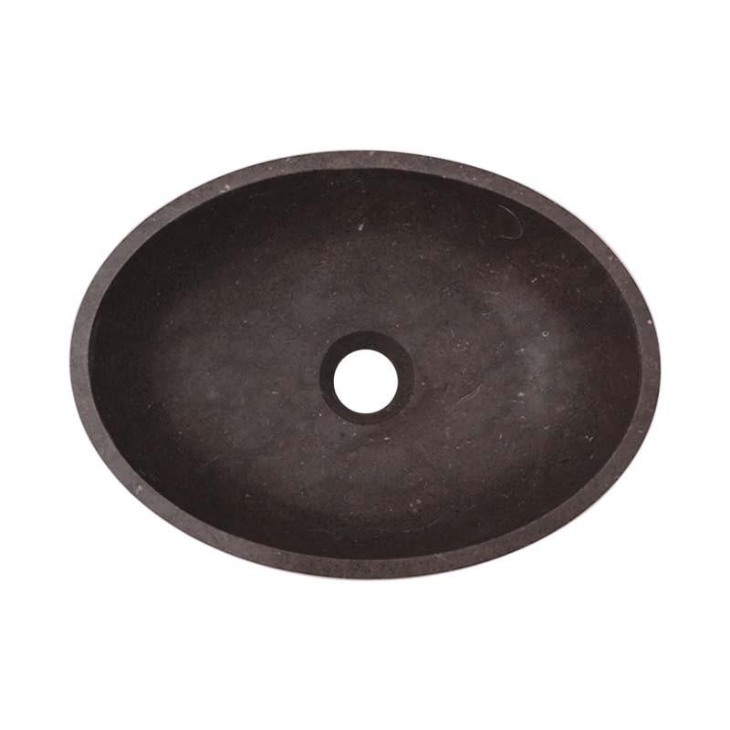 Pietra Brown Honed Oval Basin Limestone 2515