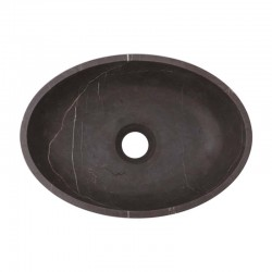 Pietra Grey Honed Oval Basin Limestone 2517