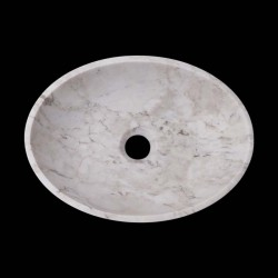 Persian White Honed Oval Basin Marble 2608