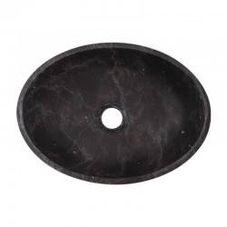 Nero Marquina Honed Oval Basin Marble 2652