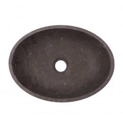Pietra Brown Honed Oval Basin Limestone 2655
