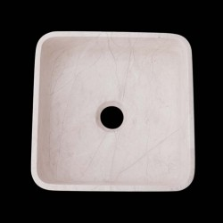 Bianca Perla Honed Square Basin Limestone 2634
