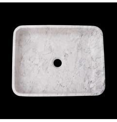 Persian White Honed Rectangle Basin Marble 2368