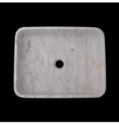 Persian White Honed Rectangle Basin Marble 2388