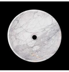 Persian White Honed Round Basin Marble 2204