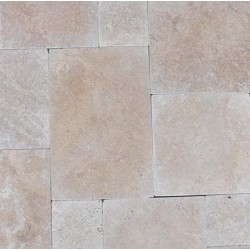 Travertine Classico Paver Tumbled - Cross Cut - French Pattern 30mm