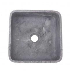 Crystal Grey Honed Square Basin Marble 2330