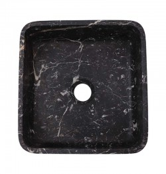 Black & Gold Honed Square Basin Marble 2374