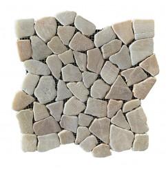 Mixed Quartz Random Honed Marble Mosaic