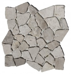Beige Random Honed Marble Mosaic
