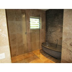 Travertine Noce Anticato Tile - Tumbled