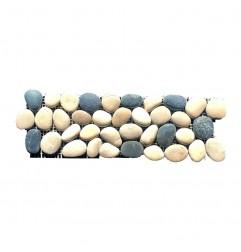 Tan/Black/White Natural Pebble Borders