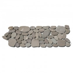 Tan Mini Combination Tumbled Sliced Pebble Borders