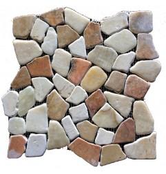 Megamix Random Honed Marble Mosaic