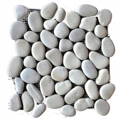 White Natural Pebble Squares