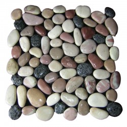 Mixed Natural Pebble Squares