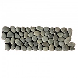 Black Natural Pebble Borders