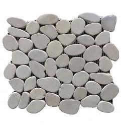 Tan Honed Sliced Pebble Squares
